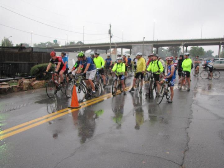 A rainy first BIKE & HIKE event.